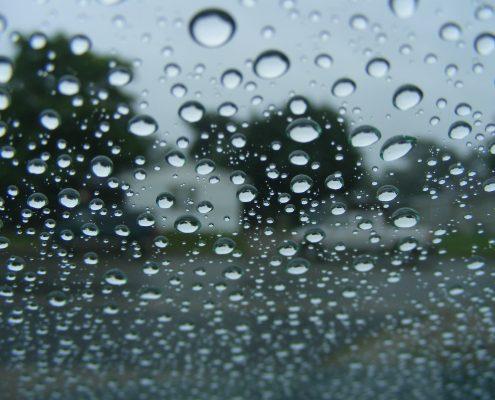 hydrophobic coating on window