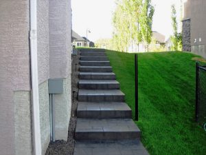 non slip paint on concrete stone stairs