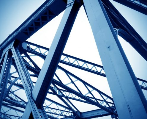 metal coating on architectural metal structures