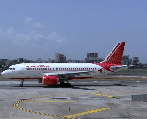 Air india plane coated with aerospace coatings
