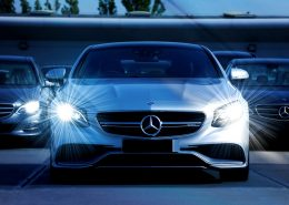 a white mercedes with teflon coating for car paint