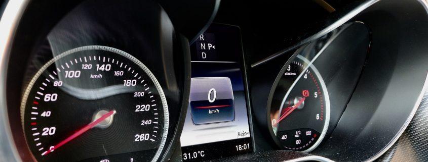 anti reflection coating on car dashboard