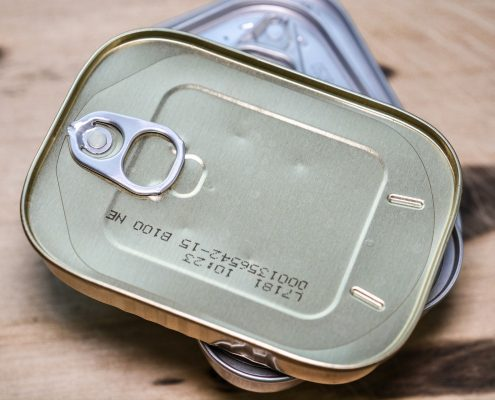 packaging coating on sardine cans